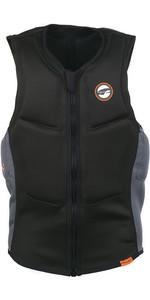 2019 Prolimit Half Padded Front Zip Slider Impact Vest Black / Orange 63032