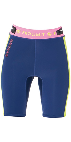 Prolimit Womens SUP 2mm Neoprene Shorts Blue / Pink 64770