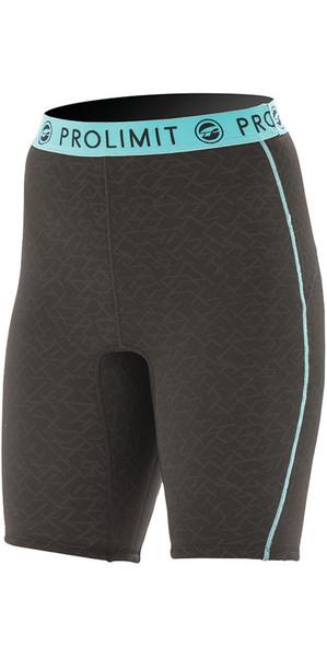 2018 Prolimit Womens 2mm Airmax Neoprene SUP Shorts Black / Aqua 84780