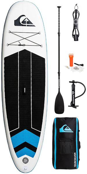 2018 Quiksilver ISUP 10'6 Inflatable Stand Up Paddle Board Blue Topaz Inc. Pump, Paddle, Bag & Leash EGLISQS106