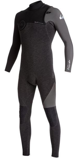 2018 Quiksilver Highline Series 3/2mm Zipperless Wetsuit JET BLACK EQYW103050