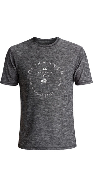 2018 Quiksilver Scrypto Short Sleeve Surf Tee UV50 BLACK EQYWR03086