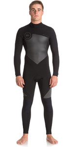 Quiksilver Syncro Series 3/2mm GBS Back Zip Wetsuit JET BLACK EQYW103037