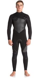 Quiksilver Syncro Plus 5/4/3mm Chest Zip GBS Wetsuit JET BLACK EQYW103046