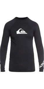 2018 Quiksilver Boys All Time Long Sleeve Rash Vest BLACK EQBWR03047