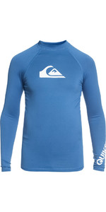 2018 Quiksilver Boys All Time Long Sleeve Rash Vest ELECTRIC BLUE EQBWR03047