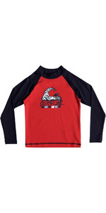 Quiksilver Boys Bubble Dream Long Sleeve Rash Vest RED EQKWR03023