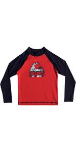 Quiksilver Boys Bubble Dream Long Sleeve Rash Vest RED EQKWR03023