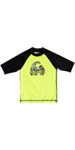 Quiksilver Boys Bubble Dream Short Sleeve Rash Vest SAFETY YELLOW EQKWR03024