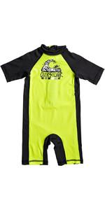 2018 Quiksilver Boys Bubble Spring Rash Suit SAFETY YELLOW EQKWR03021