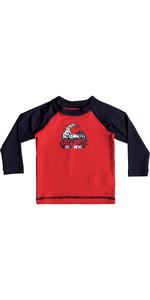 Quiksilver Infant Bubble Dream Long Sleeve Rash Vest QUIK RED EQIWR03013