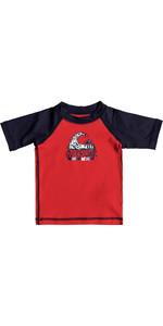 2018 Quiksilver Infant Bubble Dream Short Sleeve Rash Vest QUIK RED EQIWR03014