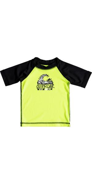 2018 Quiksilver Infant Bubble Dream Short Sleeve Rash Vest SAFETY YELLOW EQIWR03014