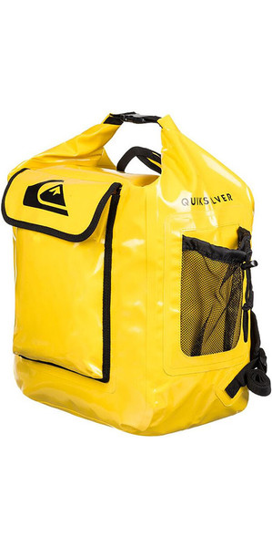 2018 Quiksilver Deluxe Wet Dry Bag / Back Pack Yellow EGLQSWBBKP