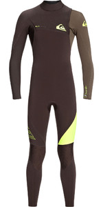 2019 Quiksilver Junior Boys Highline Lite 3/2mm Zipperless Wetsuit Velvet Brown / Dark Beech EQBW103036
