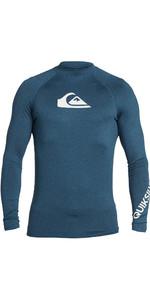 2021 Quiksilver Mens All Time Long Sleeve Rash Vest EQYWR03240 - Majolica Blue