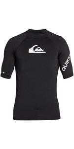 2021 Quiksilver Mens All Time Short Sleeve Rash Vest EQYWR03228 - Black