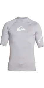 2020 Quiksilver Mens All Time Short Sleeve Rash Vest EQYWR03228 - Sleet Heather