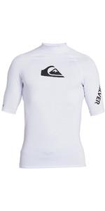 2021 Quiksilver Mens All Time Short Sleeve Rash Vest EQYWR03228 - White