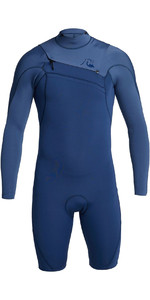 2020 Quiksilver Mens Highline Limited 2mm Chest Zip Shorty Wetsuit EQYW403012 - Iodine Blue / Cascade Blue