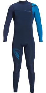 2021 Quiksilver Mens Highline Lite 3/2mm Chest Zip Wetsuit EQYW103099 - Night Indigo