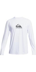 2021 Quiksilver Mens Solid Streak Long Sleeve Rash Vest EQYWR03311 - White
