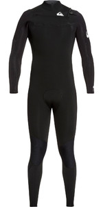 2020 Quiksilver Mens Syncro 4/3mm Chest Zip Wetsuit Black / White EQYW103087
