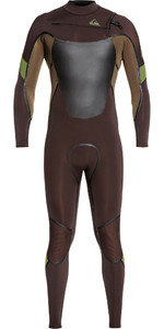 2021 Quiksilver Mens Syncro Plus 4/3mm Chest Zip Wetsuit Velvet Brown / Dark Beech EQYW103082