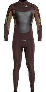 2020 Quiksilver Mens Syncro Plus 4/3mm Chest Zip Wetsuit Velvet Brown / Dark Beech EQYW103082