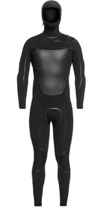 2020 Quiksilver Mens Syncro Plus 4/3mm Hooded Chest Zip Wetsuit EQYW203012 - Black / Jet Black