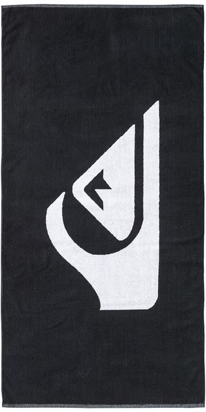 2018 Quiksilver Woven Logo Beach Towel Black EQYAA03108