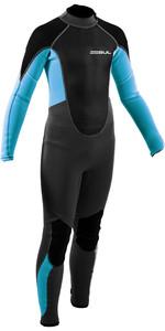 2021 Gul Junior Response 3/2mm Back Zip Wetsuit RE1322-B9 - Grey / Blue Aster