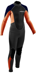 2021 Gul Junior Response 3/2mm Back Zip Wetsuit Grey / Orange