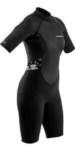 2021 Gul Womens Response 3/2mm Flatlock Shorty Wetsuit RE3318-B9 - Black