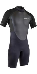 2021 Gul Mens Response 3/2mm Flatlock Shorty Wetsuit RE3319-B9 - Black