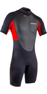 2021 Gul Mens Response 3/2mm Flatlock Shorty Wetsuit RE3319-B9 - Black / Red