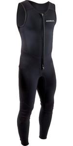 2021 Gul Mens Response 3/2mm Flatlock Long John Wetsuit RE4313-B9 - Black