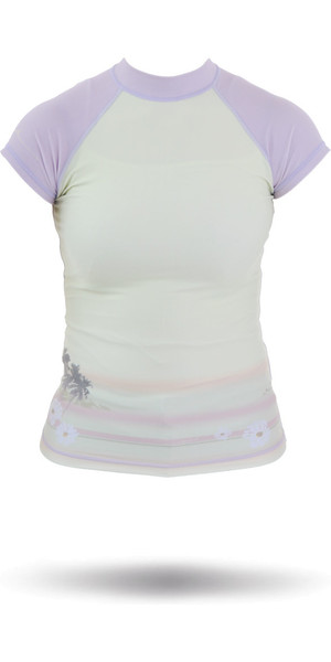 Rip Curl Core Bali Rash Vest in Green / Purple W7305W