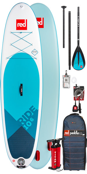 2019 Red Paddle Co Ride 10'6 Inflatable Stand Up Paddle Board + Bag, Pump, Paddle & Leash