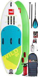 2019 Red Paddle Co Wild 9'6 Inflatable Stand Up Paddle Board + Bag, Pump, Paddle & Leash