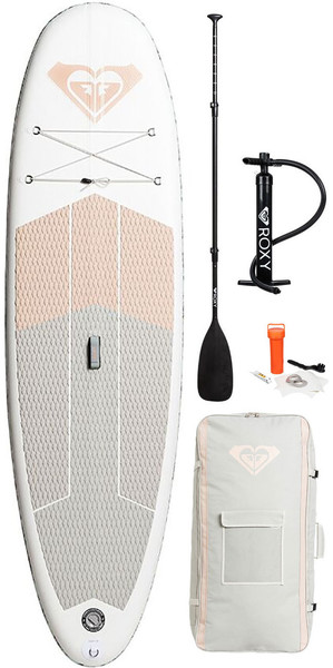 2018 Roxy ISUP 10'6 Inflatable Stand Up Paddle Board Sunrise Pink Inc. Pump, Paddle, Bag & Leash EGLISRX106