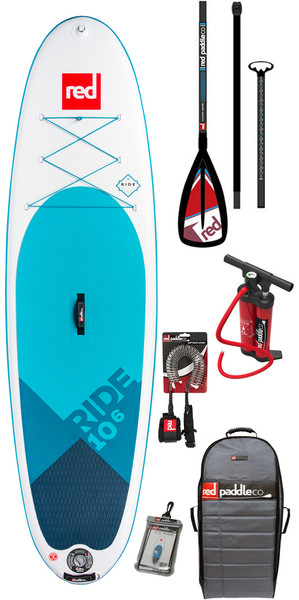 2018 Red Paddle Co Ride 10'6 Inflatable Stand Up Paddle Board + Bag, Pump, Paddle & Leash