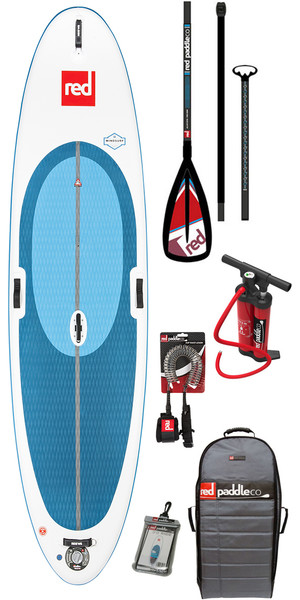 2018 Red Paddle Co WindSurf 10'7 Inflatable Stand Up Paddle Board + Bag, Pump, Paddle & Leash