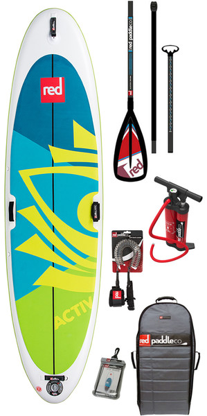 2018 Red Paddle Co Activ Yoga 10'8 Inflatable Stand Up Paddle Board + Bag, Pump, Paddle & Leash