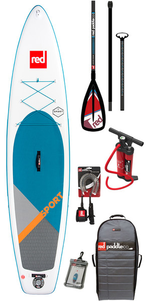 2018 Red Paddle Co Sport 11'0 Inflatable Stand Up Paddle Board + Bag, Pump, Paddle & Leash