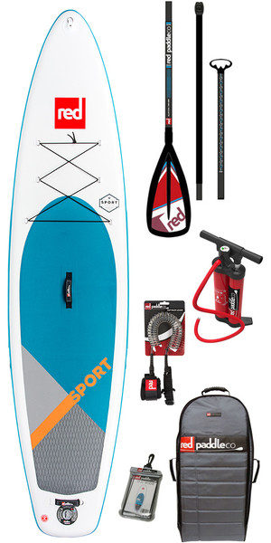 2018 Red Paddle Co Sport 11'3 Inflatable Stand Up Paddle Board + Bag, Pump, Paddle & Leash