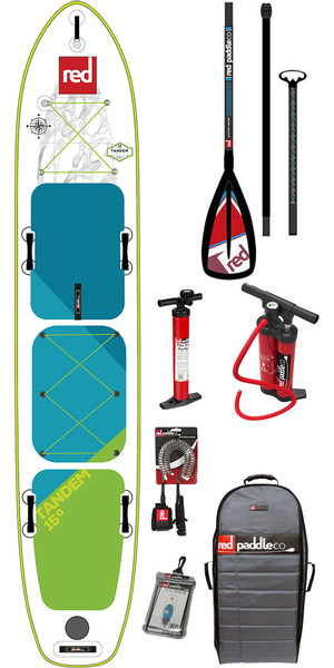 2018 Red Paddle Co Voyager Tandem 15'0 Inflatable Stand Up Paddle Board +Bag, Pump, 2 x Paddles & Leash