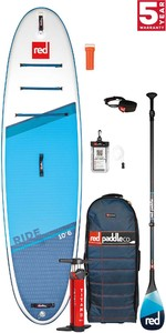 2021 Red Paddle Co Ride 10'6 Stand Up Paddle Board, Bag, Pump, Paddle & Leash - Carbon 100 Package