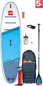 2021 Red Paddle Co Ride 10'6 Stand Up Paddle Board, Bag, Pump, Paddle & Leash - Carbon / Nylon Package