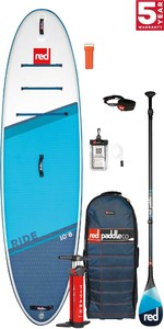 2021 Red Paddle Co Ride 10'8 Stand Up Paddle Board, Bag, Pump, Paddle & Leash - Carbon 100 Package